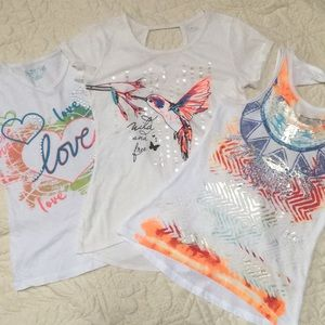 Girl's T-Shirts-Set of 3 size M (10-12)